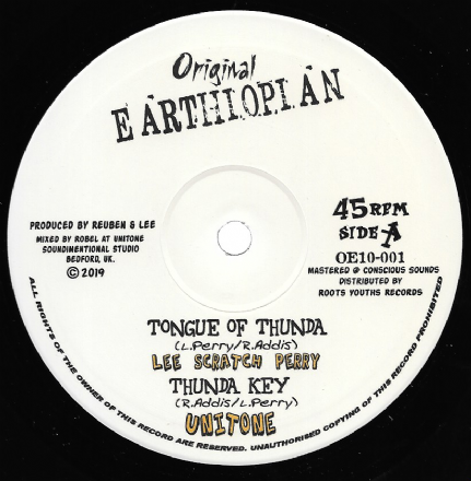 Lee Scratch Perry - Tongue of Thunda / Dub  (Original Earthiopian) 10